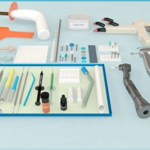 Dental composite treatment instruments