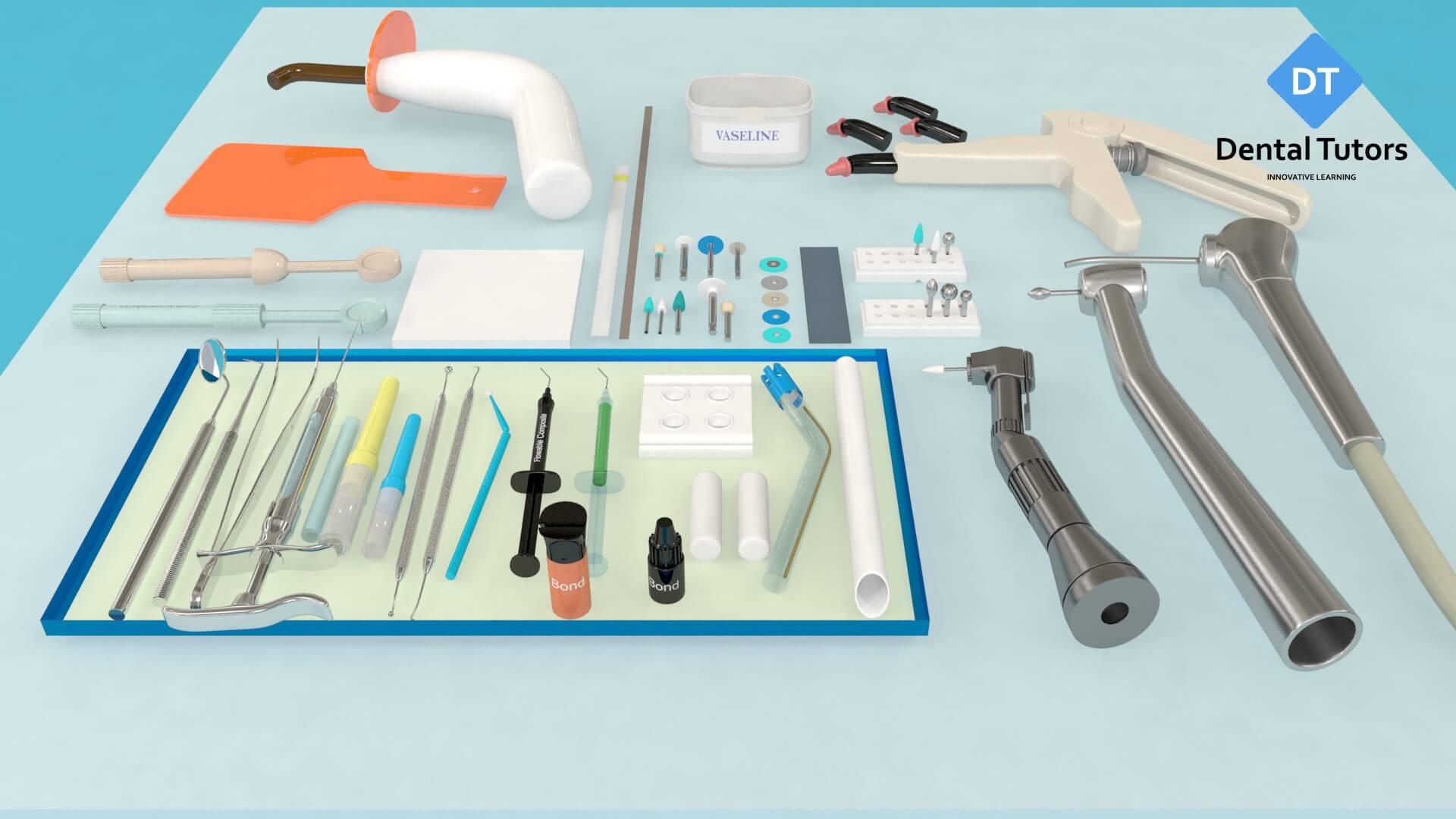 Dental composite treatment instruments